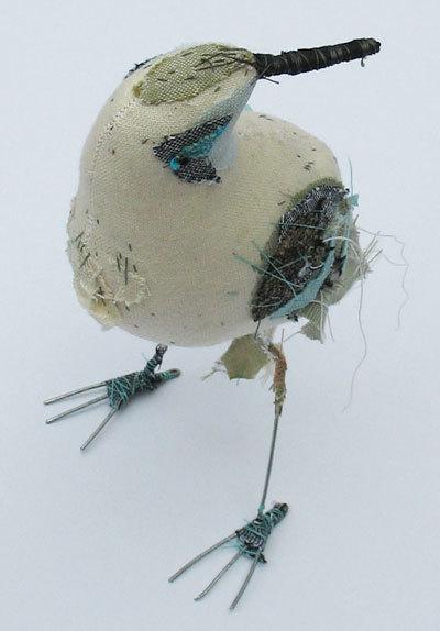 White-blue-bird